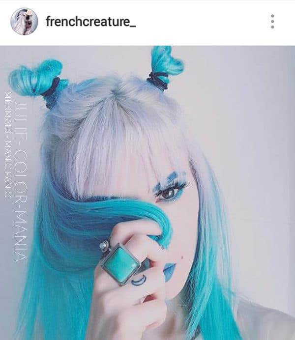Bleu - Merci Julie :) Coloration Cheveux Mermaid - Manic Panic