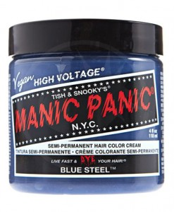 Coloration Cheveux Gris Bleuté Blue Steel - Manic Panic | Color-Mania