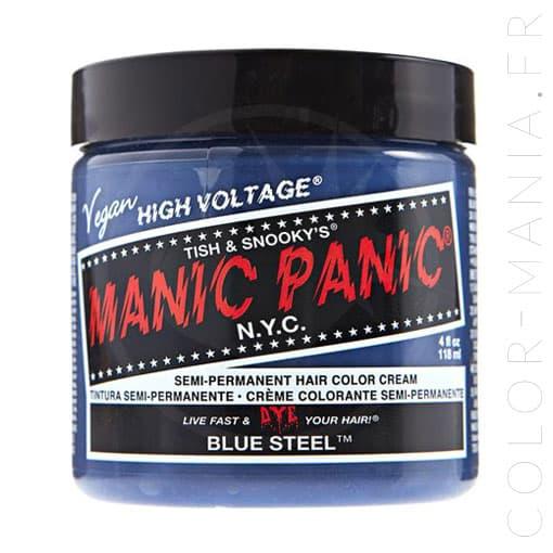 Coloration Cheveux Gris Bleuté Blue Steel - Manic Panic   Color-Mania