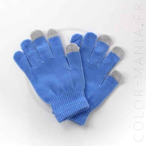 Gants Tactiles Bleus | Color-Mania