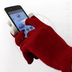 Gants Tactiles Rouge Foncé | Color-Mania