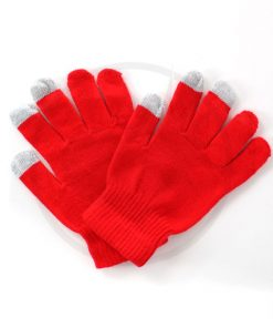 Vivid Red Touch Gloves | Color-Mania