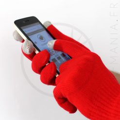 Gants Tactiles Rouge Vif | Color-Mania
