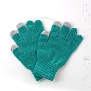 Gants Tactiles Verts | Color-Mania