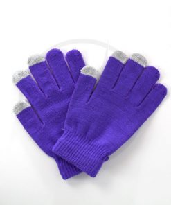 Gants Tactiles Violets | Color-Mania