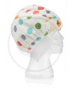 Serviette Sèche-Cheveux Microfibre Pois Multicolores | Color-Ma