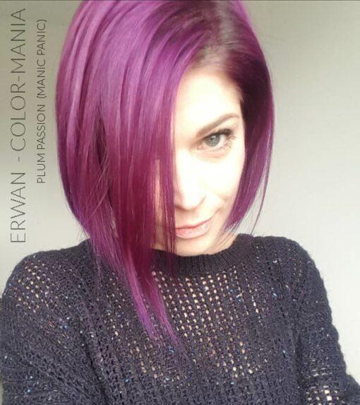 Grazie Erwan :) Colore dei capelli Viola Prugna Passion Plum - Manic Panic | Color-Mania