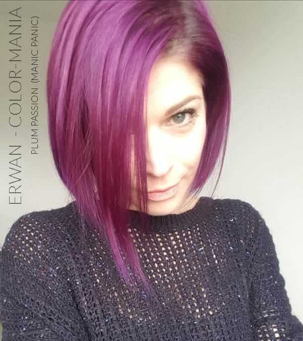 Merci Erwan :) Coloration Cheveux Violet Prune Plum Passion - Manic Panic | Color-Mania