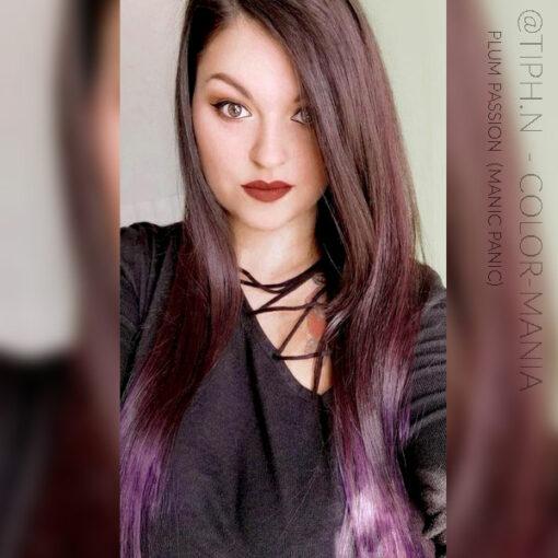 Merci Tiphaine :) Coloration Cheveux Violet Prune Plum Passion - Manic Panic | Color-Mania
