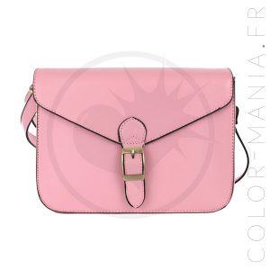 Mini Satchel - Sac à Main Rétro Rose Pâle   Color-Mania