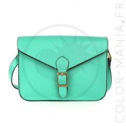 Mini Satchel - Sac à Main Rétro Vert Sirène | Color-Mania