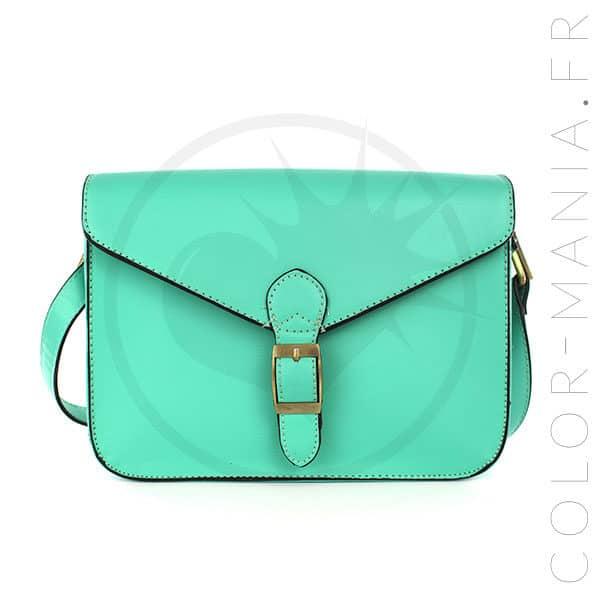 Mini Satchel - Green Mermaid Retro Handbag | Color-Mania