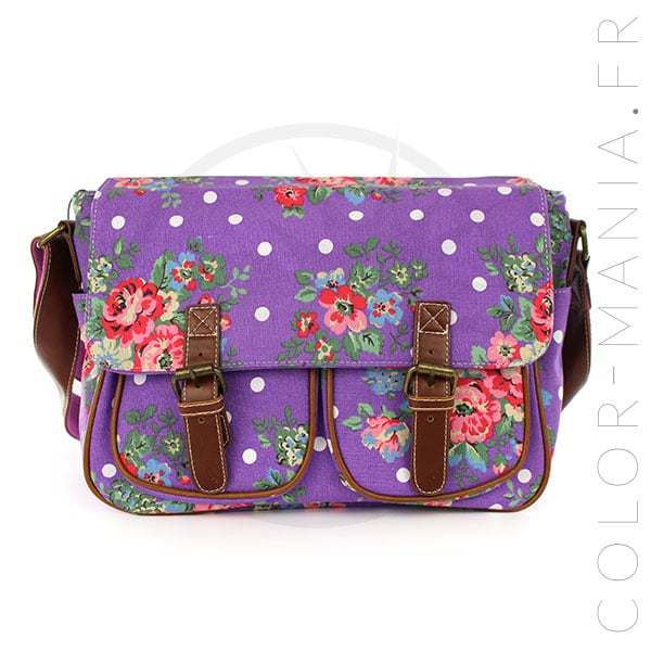 Purple Cambridge Morado y Polka Dot Bag | Color-Mania