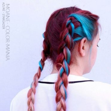 Merci Moane ! :) - Coloration Cheveux Bleu Azur / Azure Blue- Stargazer - Color-Mania