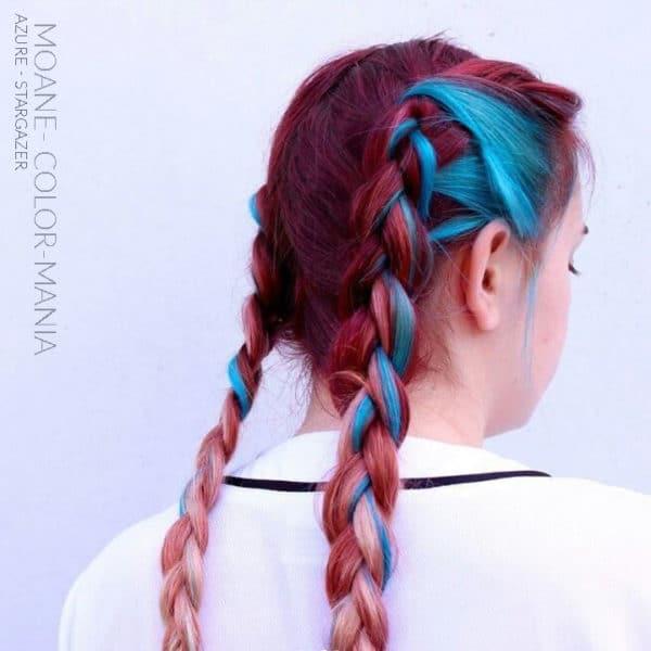 Merci Moane ! :) - Coloration Cheveux Bleu Azur / Azure Blue- Stargazer - Color-Mania
