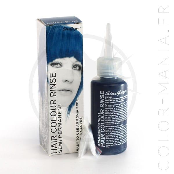 coloration cheveux bleu azur stargazer color mania - Coloration Permanente Bleu
