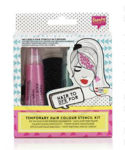 Kit da colorare temporaneo con stencil - rosa e verde - Color-mania
