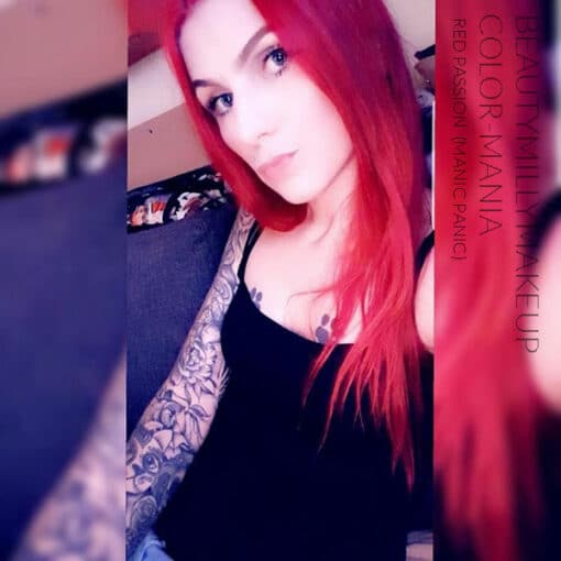 Gracias Beautymillymakeup :) Red Hair Color Red Passion - Manic Panic | Color-Mania