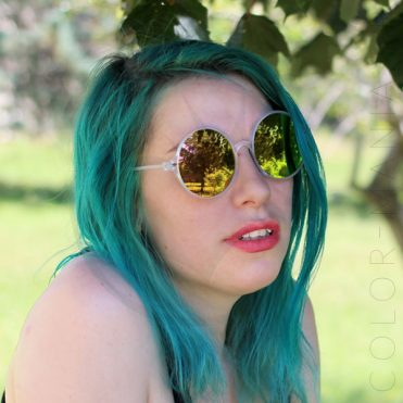 Lunettes de Soleil Oversize - Verres Fuchsia Miroir | Color-Mania