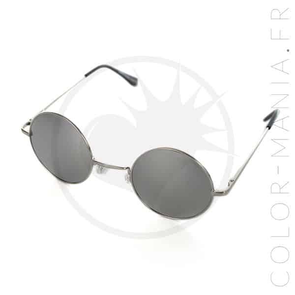 lunettes de soleil rondes effet miroir argent color mania. Black Bedroom Furniture Sets. Home Design Ideas