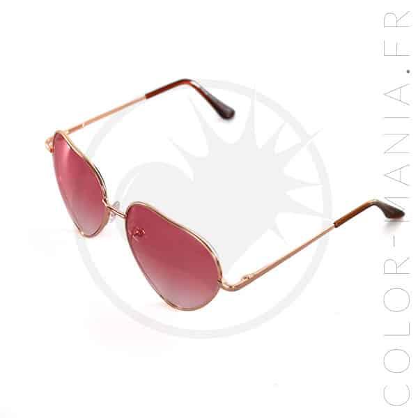 Gafas de sol rosadas de los corazones | Color-Mania