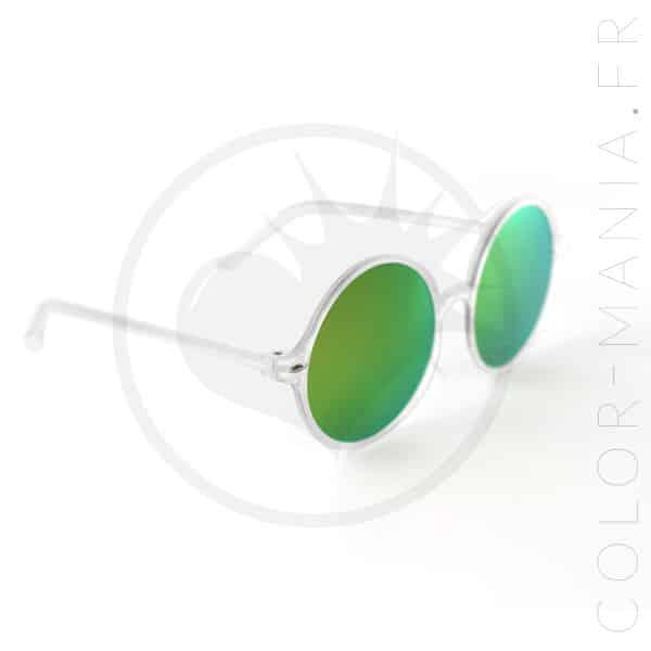 Lunettes de Soleil Oversize - Verres Fuchsia Miroir   Color-Mania