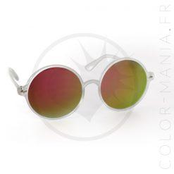 Gafas de sol de gran tamaño - Fucsia Espejo Gafas | Color-Mania