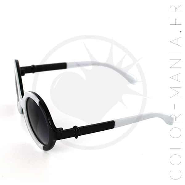 Occhiali da sole bicolore tondi in bianco e nero | Color-Mania