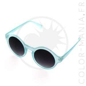Lunettes de Soleil Rondes Bleu Transparent | Color-Mania