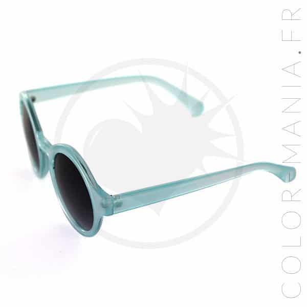 Gafas de sol transparentes redondas azules | Color-Mania