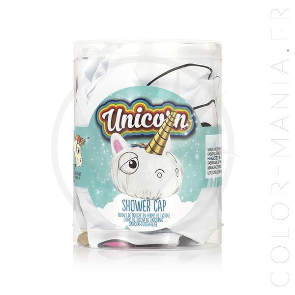 Gorra de ducha unicornio blanca | Color-Mania