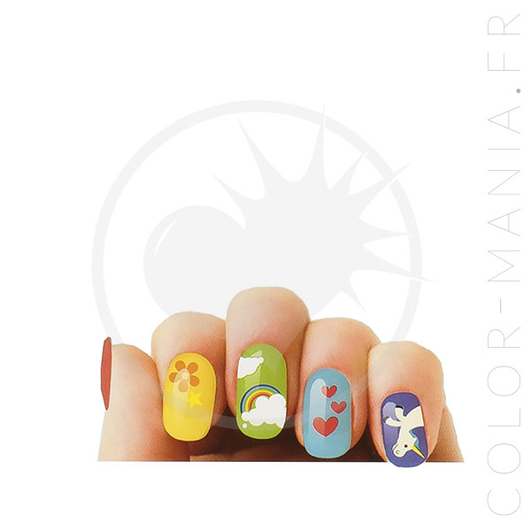 Stickers Ongles Licorne - Nail Art | Color-Mania