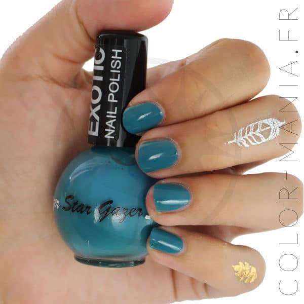Lagoon Blue Nail Polish - Stargazer | Color-Mania