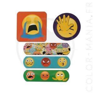 Boîte Métal Pansements Emojis | Color-Mania