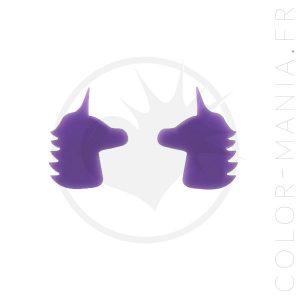 Boucles d'Oreilles Licornes Lilas | Color-Mania