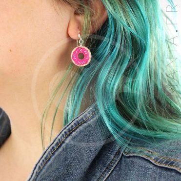 Boucles d'Oreilles Donuts Rose | Color-Mania