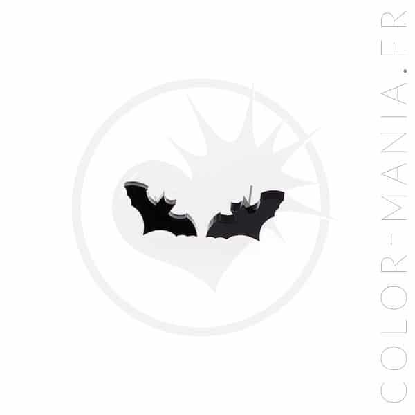 Boucles d'Oreilles Chauve-Souris Noires | Color-Mania