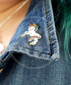 Rainbow Mane Unicorn Pin Pin | Color-Mania