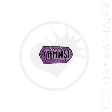 Pin's Féminist Cristal Parme | Color-Mania