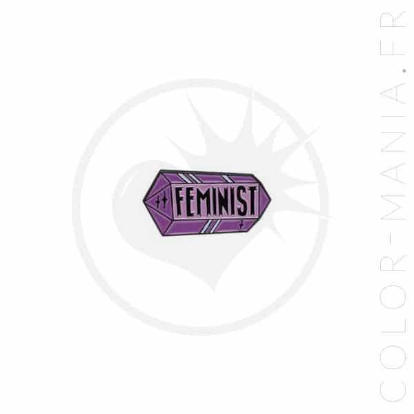 Feminist Crystal Parma Pin | Color-Mania