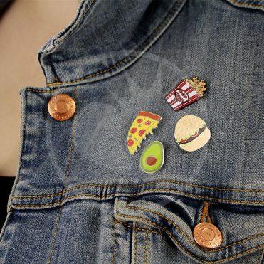 Pin's Avocat, Pizza, Burger, Pop-Corn| Color-Mania