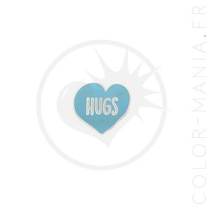Pin's Hugs Coeur Bleu Ciel | Color-Mania