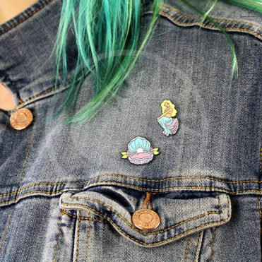 Pin's Sirène & Coquillage Pastel | Color-Mania
