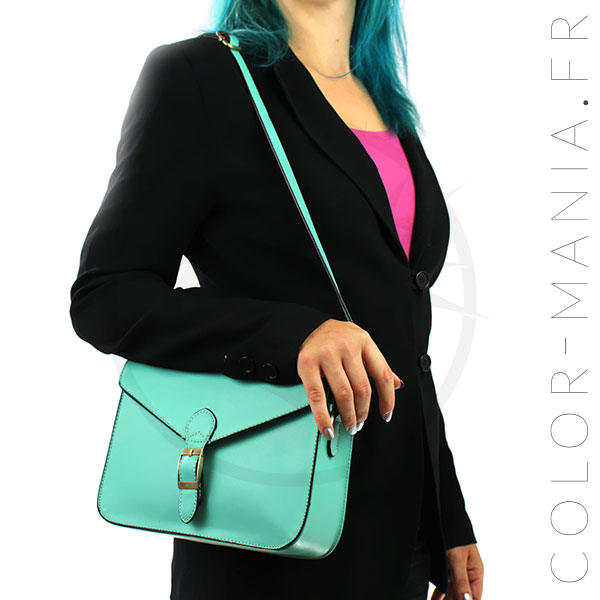 Mini Satchel - Green Mermaid Retro Handbag | Color-Mania
