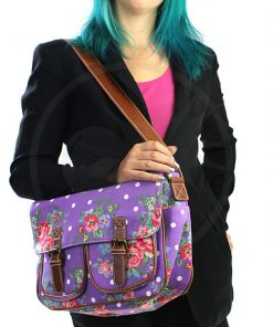 Purple Cambridge Morado y Polka Dot Bag | Color-Mania