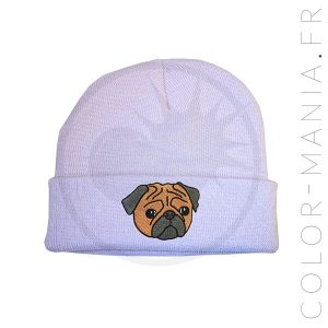 Bonnet Violet Lilas Pug Marron | Color-Mania