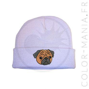 Bonnet Violet Lilas Pug Marron | Color-Mania