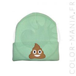 Bonnet Vert Menthe Emoji Caca | Color-Mania