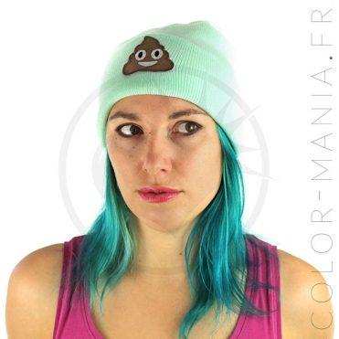 Bonnet Vert Menthe Emoji Caca   Color-Mania