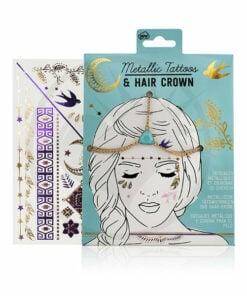 Corona per capelli e tatuaggi metallici | Color-Mania